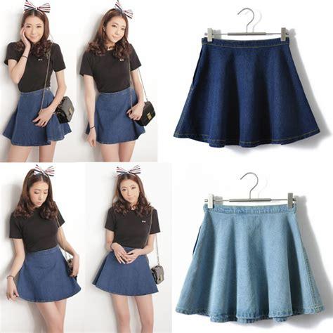 Rok Sifon Pendek Mini Sifon Skirt aliexpress buy s denim skirts a line circle skirts high waist s