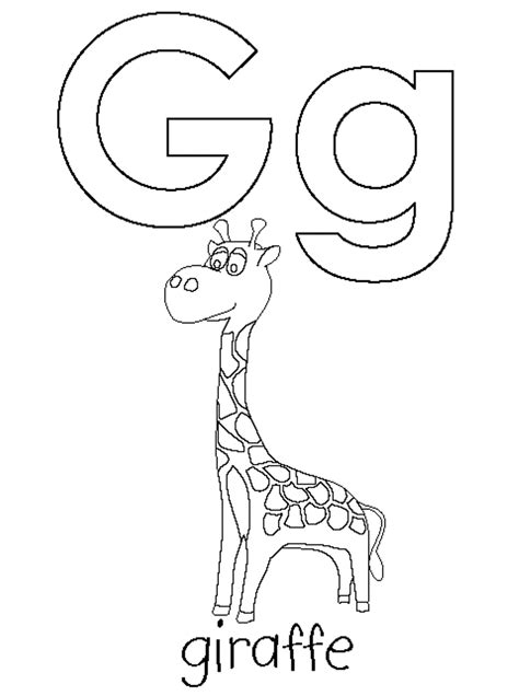 letter h coloring letter g coloring sheet alphabet characters letter g is for giraffe coloring pages alphabet alphabet