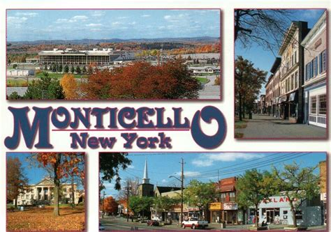 new york from the monticello new york downtown from broadway court house raceway ny postcard ebay