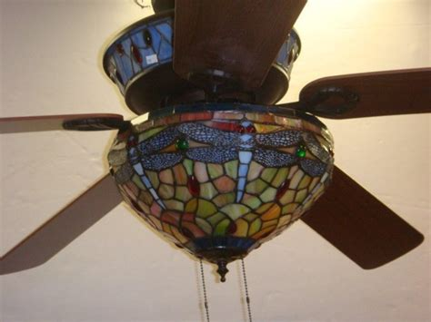 ceiling fan with stained glass light stained glass ceiling fan light globes bottlesandblends