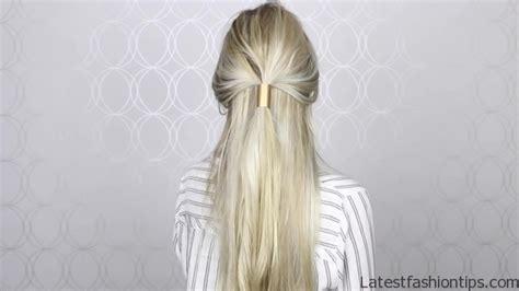 diy gold ponytail hair cuff simple hair accessory