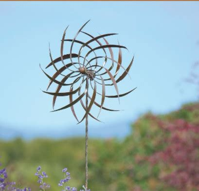 Garden Decor Wind Spinners Dahlia Wind Spinner Eclectic Outdoor Decor By Gardener S Supply Company