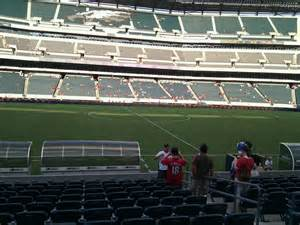 sectioned under 136 lincoln financial field section 138 philadelphia eagles