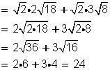 multiplicacion de raices cuadradas operaciones con radicales