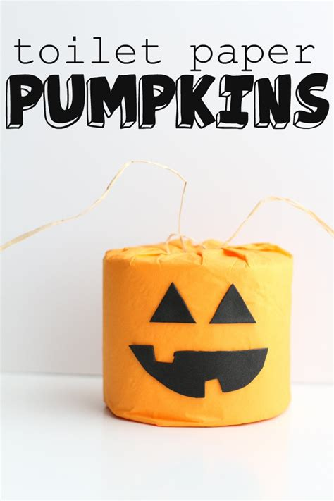 Toilet Paper Pumpkins Craft - toilet paper pumpkins i can teach my child