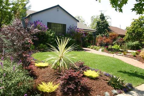 California Landscaping Ideas Drought Tolerant Landscaping Ideas California Brick Path And Colorful Drought Resistant