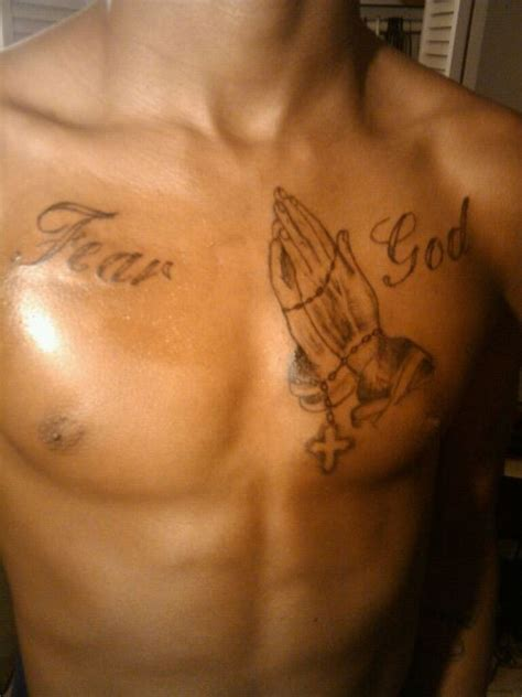 fear god tattoo fear god with praying pictures at