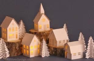 Handmade Ceramic Christmas Decorations Ashbee Design Silhouette Projects Tea Light Village Tutorial