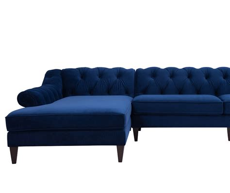 alexandra upholstered sectional sofa alexandra tufted left sectional sofa navy blue