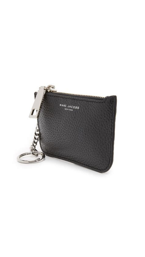 lyst marc jacobs gotham key pouch  black