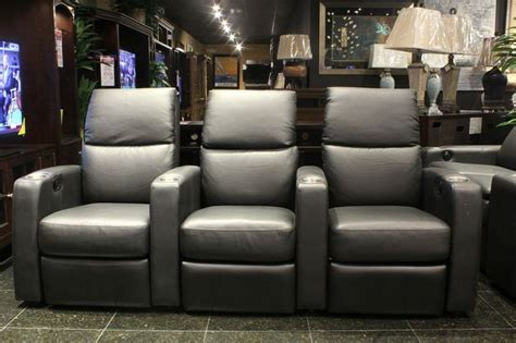 sleek charcoal grey theater seating houston tx