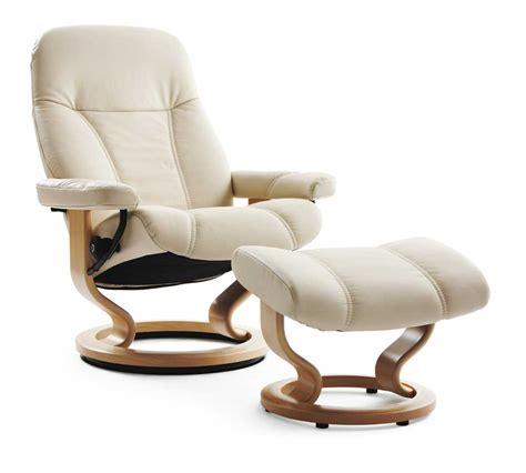 Stressless Consul 1005015 Medium Reclining Chair Ottoman Stressless Ottoman Price
