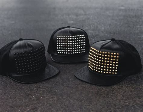 Studded Cap std la studded leather snapback caps snapback cap
