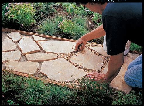 Images Of Backyards How To Install A Flagstone Path Sunset