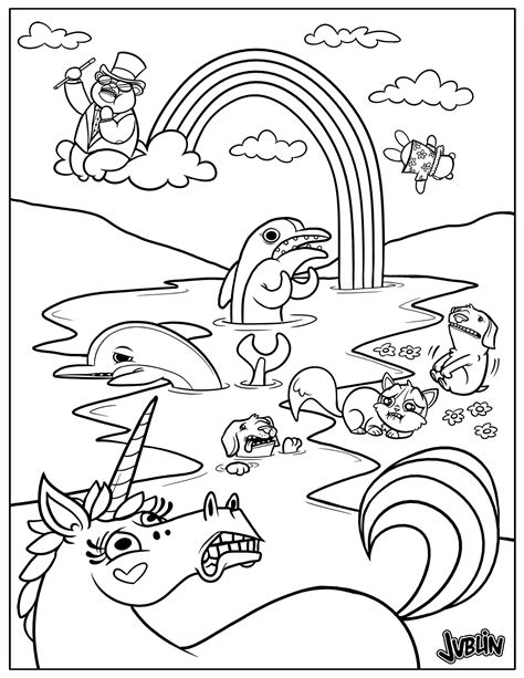coloring book yourself spill coloring book page unicorns