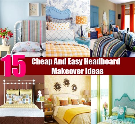 cheap and easy headboard ideas 15 cheap and easy headboard makeover ideas diy home things