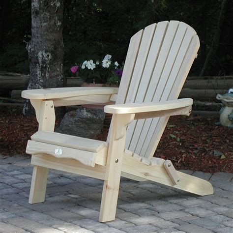country comfort chairs the bear chair company bc300p white pine folding muskoka