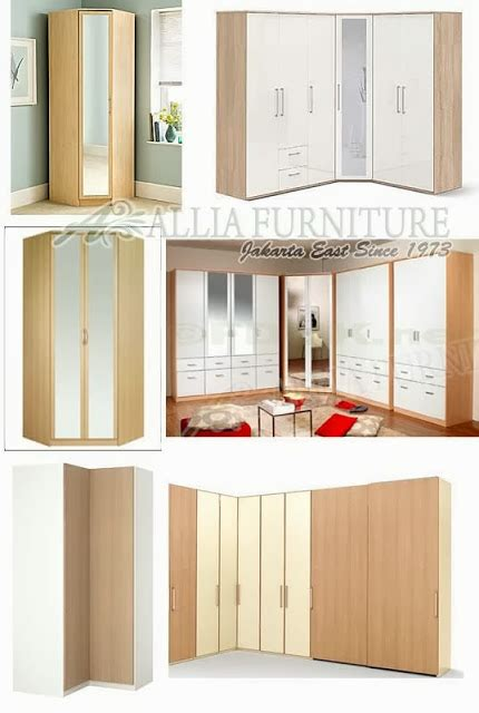 desain lemari dalam tembok model desain lemari pakaian sudut single allia furniture