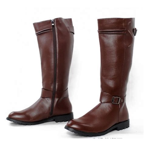 mens leather knee high boots popular knee high boots buy cheap knee high boots