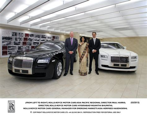 roll royce india rolls royce launches showroom at hyderabad more to follow
