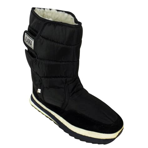 mens moon boots uk new mens shearling snow quilted thermal warm winter boot