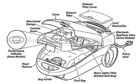 kenmore vacuum model 116 parts diagram kenmore 116 29713991 parts vacuum cleaners
