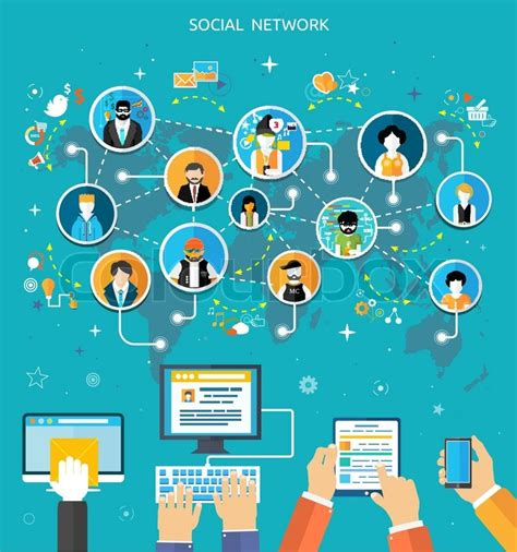 Home Design Social Network by Social Media Network Connection Concept People In A