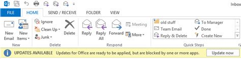 visio 2013 update updates for office are ready to be applied but are