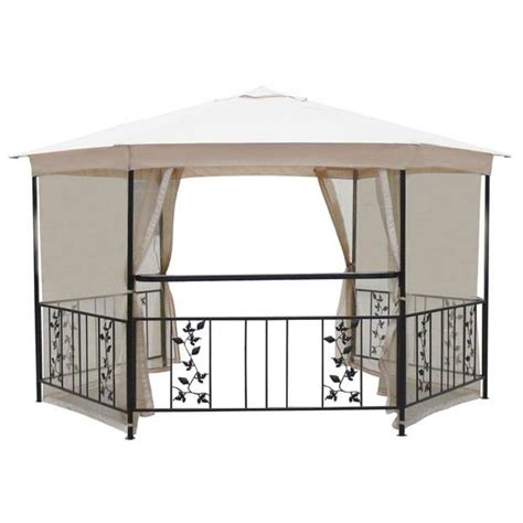 gazebo spare parts canopy for 4m hexagonal patio gazebo single tier