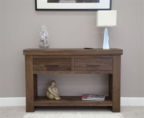 kendo solid modern walnut furniture hallway console