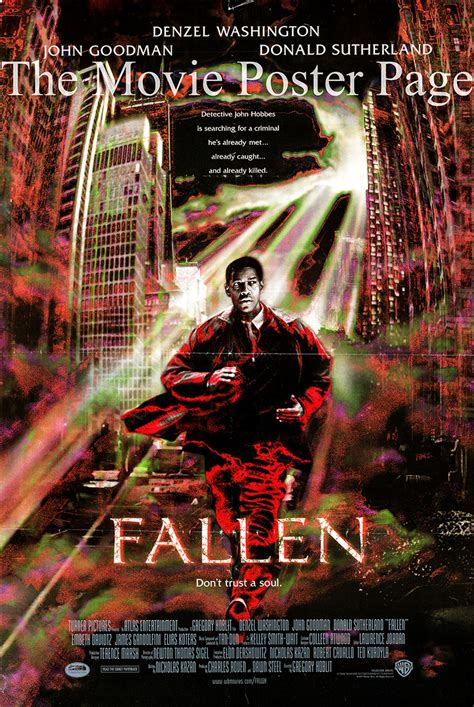 film fallen song fallen 1998 denzel washington us one sheet ss f ex
