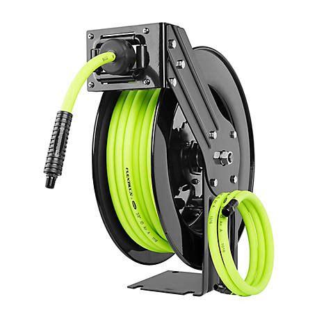 flexzilla retractable air hose reel open face single
