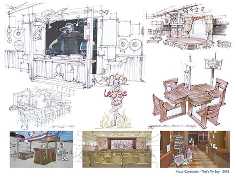production designer design for a personal portfolio of jeffrey ginn on behance