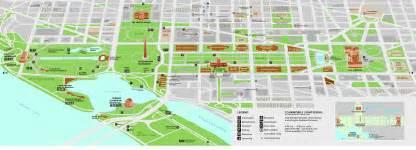 washington dc map of mall national mall smithsonian map