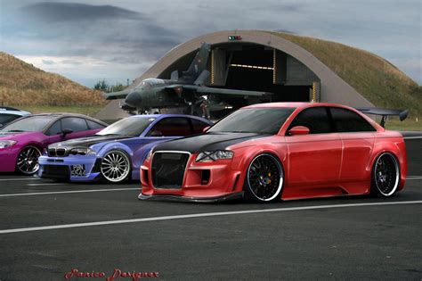 Audi Rs4 Vs audi rs4 vs bmw m3 and eclipse by mateus12345 on deviantart