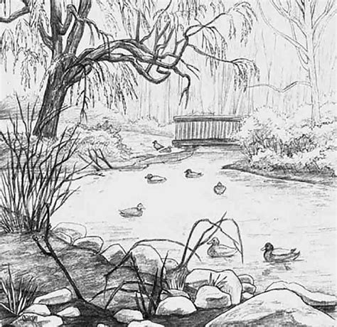 pencil drawing themes for competition pencil drawing scenery for kids scenery drawing pencil