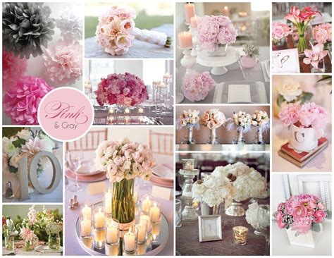 Pink And Grey Wedding Decorations dany nery decora 231 227 o rosa e cinza amei