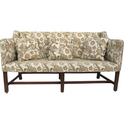 english settee english country chippendale upholstered settee c 1800 from
