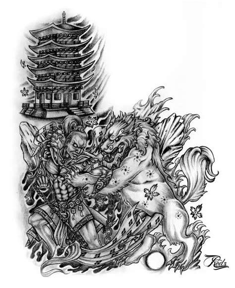dog house tattoo 22 best foo dog tattoo designs