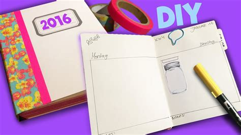 diy kalender  selber machen aus notizbuch