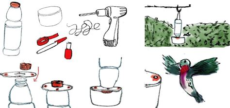 how to make your own diy hummingbird feeder using