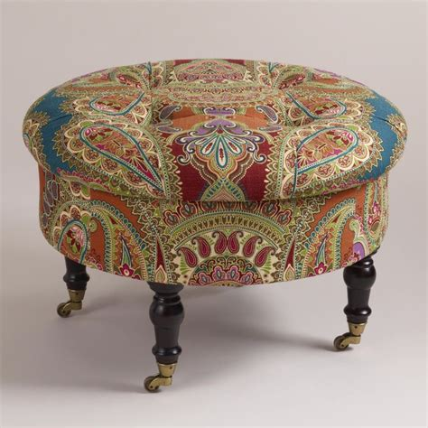 funky ottomans uk lucille ottoman world market gt gt this is so pretty love