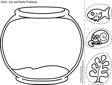 coloring pages fish bowl fish bowl coloring sheet cliparts co