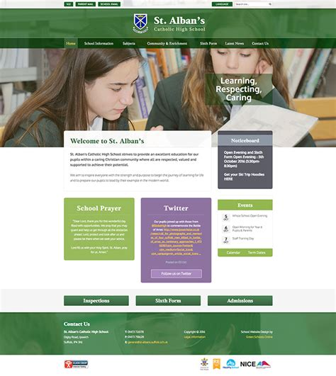 pattern school website latest school website designs september 2016 the school