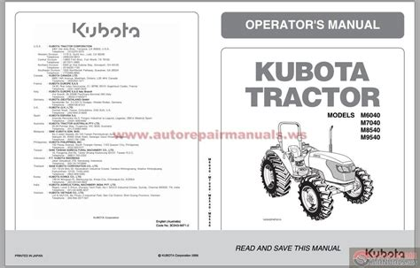 kubota tractor parts diagram wiring diagrams