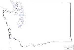 Washington State Blank Map by Geography Blog Washington Outline Maps