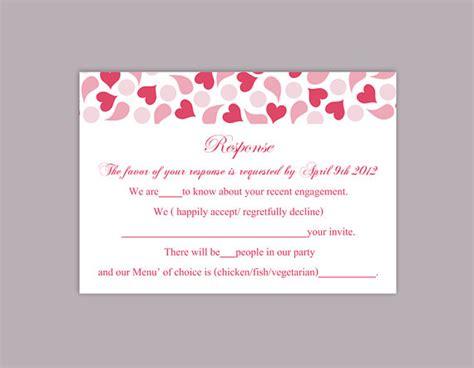 rsvp card template word diy wedding rsvp template editable text