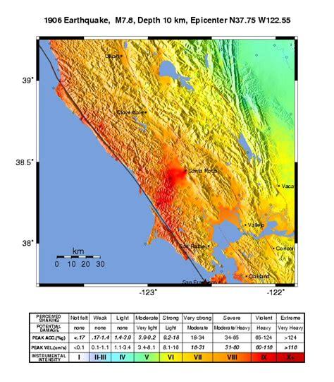 san francisco earthquake map usgs 1906 san francisco earthquake shakemaps