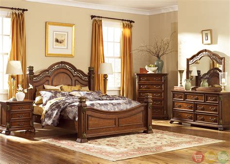 Bedroom Set For by Messina Estates Traditional European Style Poster Bedroom Set