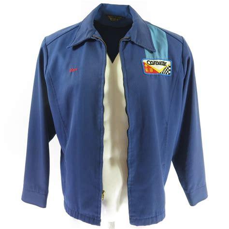 vintage corvette blue vintage 60s corvette racing jacket mens l gabardine blue